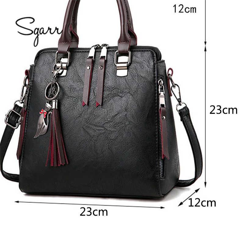 b67d19150a1b ... SGARR мягкие кожаные сумочки женские известные бренды роскошная сумка  дизайнерское Качество Повседневная женская сумка-мессенджер ...