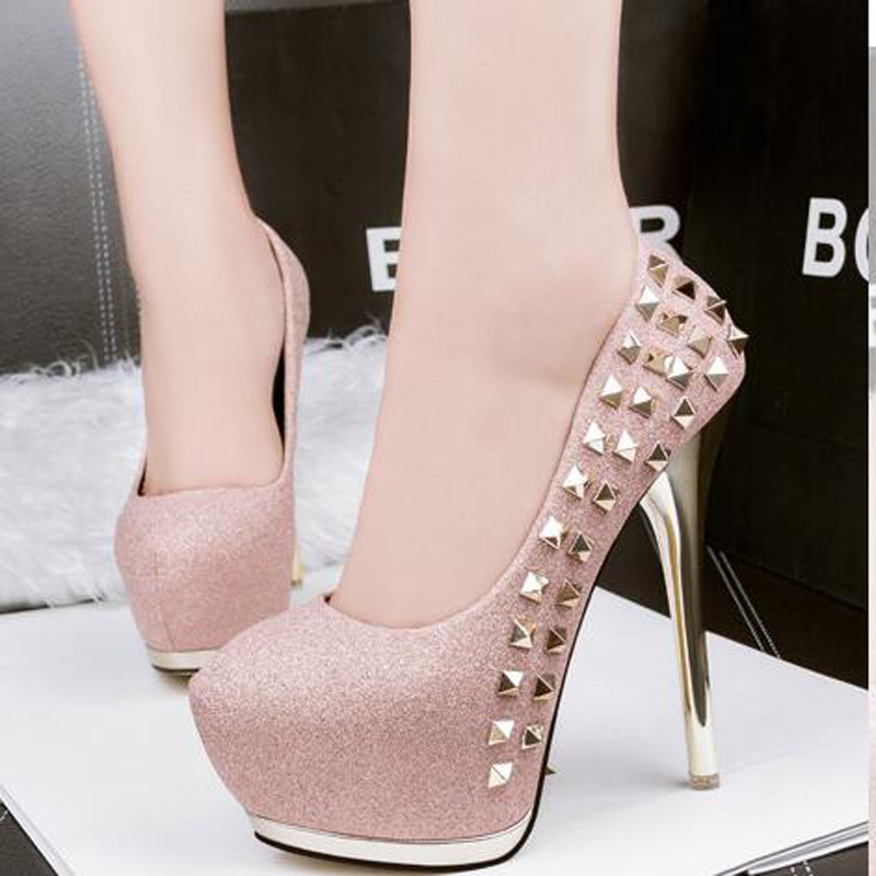 Pink High Heels Shoes Platform