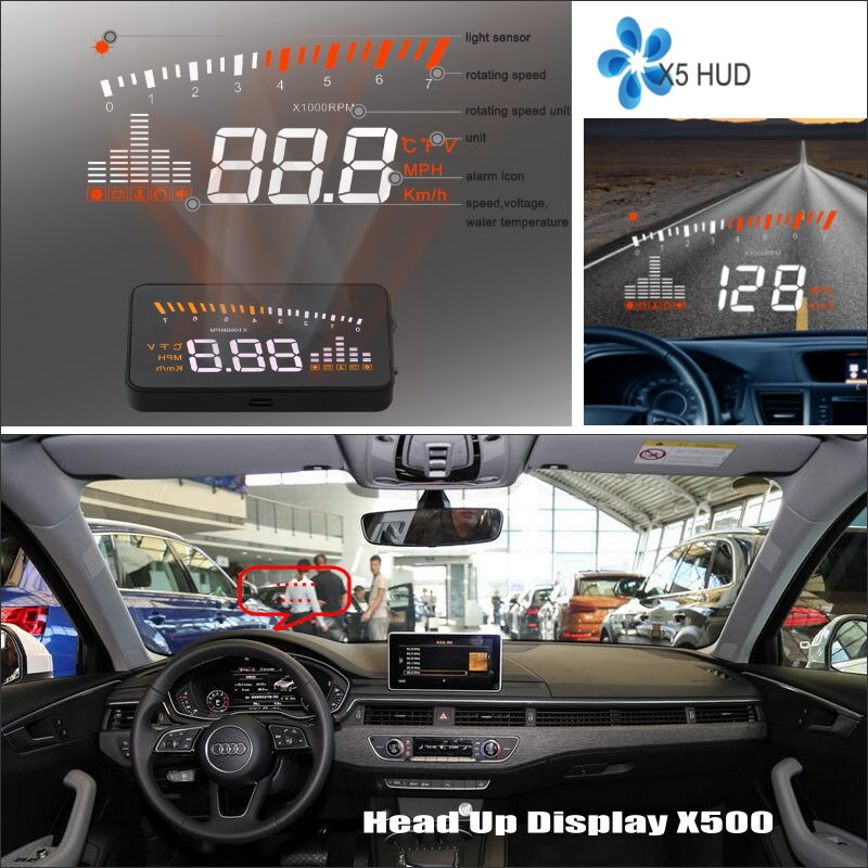 Car Information Projector Screen For Audi A4 S4 RS4 Display safety driving information on windshield HUD Head Up Display in Head up Display from Automobiles Motorcycles