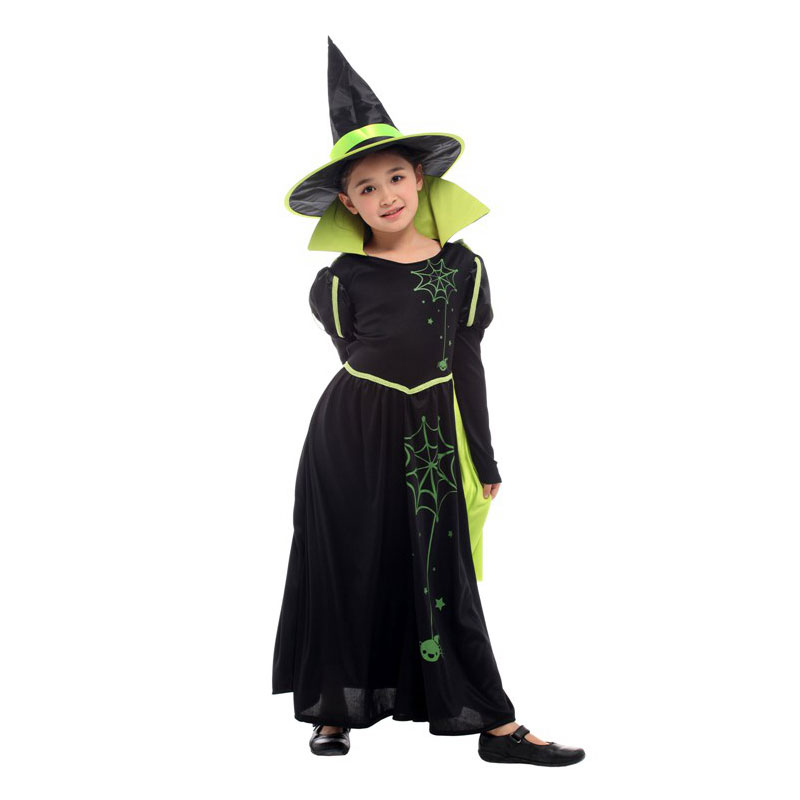 HALLOWEEN//Wicked//Wizard of Oz Child/'s BLACK WICKED WITCH COSTUME /& HAT All Ages