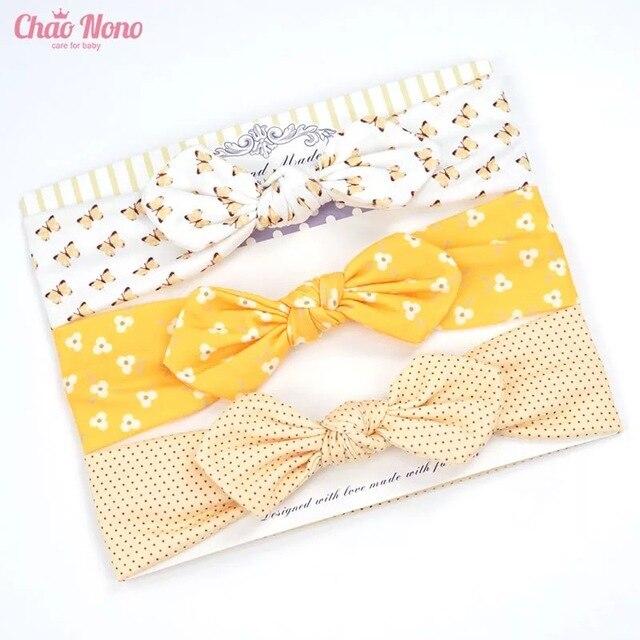 3pcs baby girl headband for newborn hair band elastic accessories cotton BowKnot girl hair band baby Hair Accessories