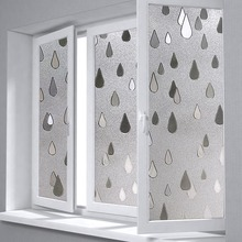 Static Raindrop Glass Window Film Bathroom Balcony window  sliding Door glass paste 3D embossing film sticker
