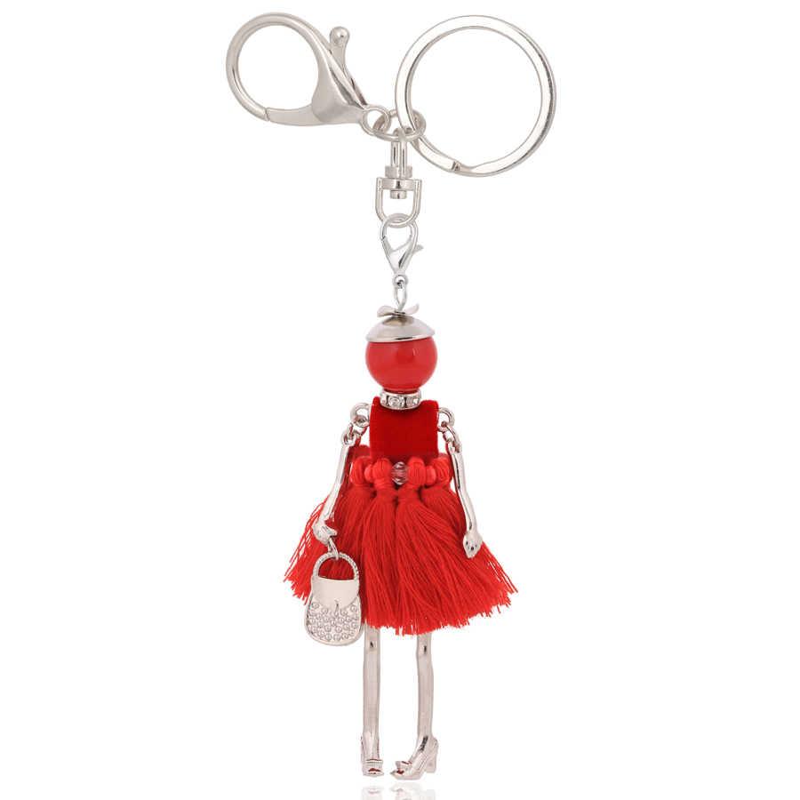 Chenlege 卸売ファッションキーチェーンバッグキーホルダーチャーム女性女性のためのペンダントジュエリー車のキーチェーンリングギフト