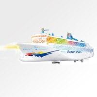 Electric Cruises Ship Model Boat Toys Music Flashing Light Children Gift Game