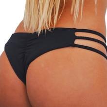 Women's swimming suit summer beach wear Bathing Suit women's Briefs 2018 Brazilian bikini swimsuit black Solid  Polyester