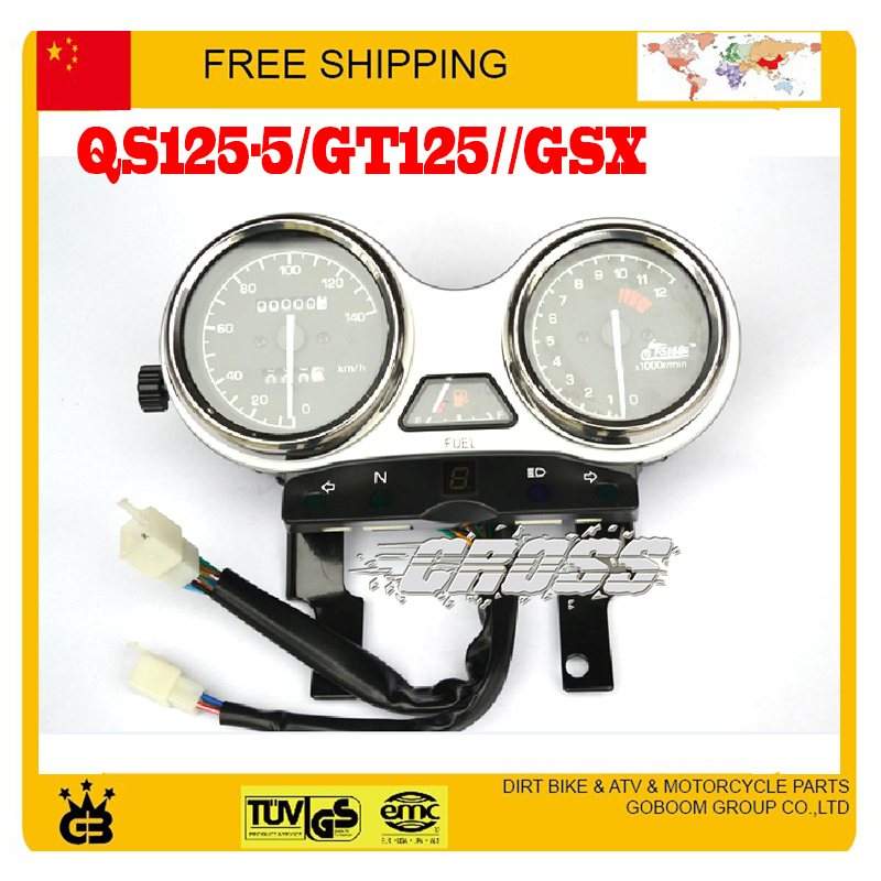 QS125-5/GT125//GSX 125CC motorcycle instrument speedometer odometer assembly accessories free shipping 125cc cbt125 carburetor motorcycle pd26jb cb125t cb250 twin cylinder accessories free shipping