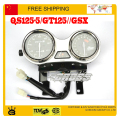 QS125-5/GT125//GSX 125CC motorcycle instrument speedometer odometer assembly accessories free shipping