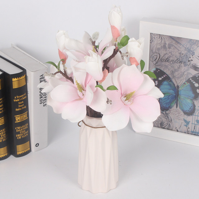 Online shop mini magnolia artificial flowers silk fake flower branch mini magnolia artificial flowers silk fake flower branch fleur artificiel for table flores wedding home decortion accessories mightylinksfo