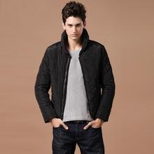 Настоящее прямых продаж хлопок ацетат батик активность 50% полосатых мужские пузырь воротник толстые зимняя куртка Большой размер