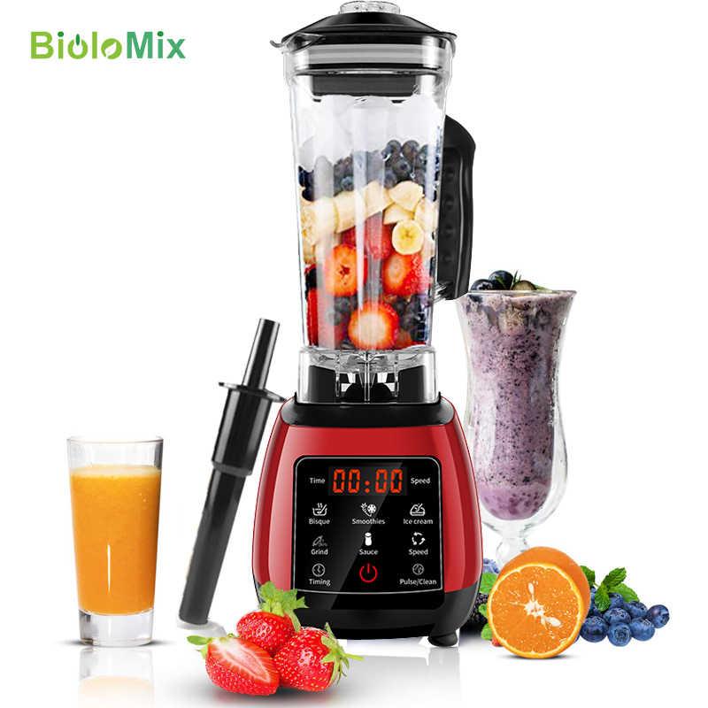 Digital touchscreen 3hp predefinido programa automático 2200 w de alta potência misturador liquidificador juicer processador alimentos smoothie frutas