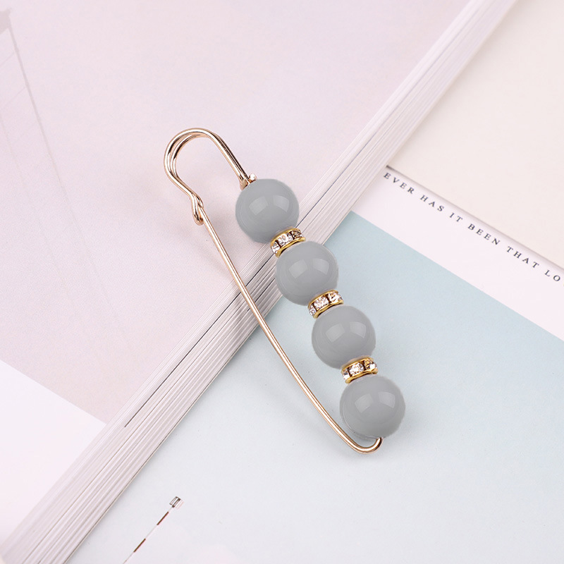 19 High Quality Vintage Gold Brooch Pins Double Head Simulation Pearl Large Big Brooches For Women Wedding Jewelry Accessories 40