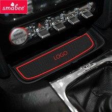 Smabee для Ford Mustang 2015 Аксессуары, 3D резиновые Коврик автомобиля Нескользящие Коврик, Нескользящие Коврик S межкомнатных дверей Pad/чашки Коврик