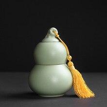 Gourd ru печи керамический чайник горшкообразный чайник половина catty шариковый подшипник с глубоким желобом заварной чайник чайный набор творческие подарки
