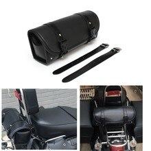 Motorcycle Saddlebag Roll Barrel bag Storage Tool Pouch For Harley Davidson