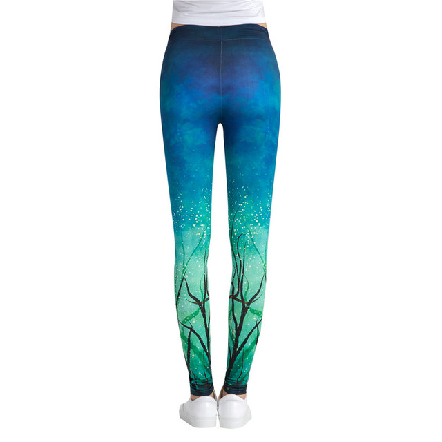 Quick-Drying Sports Leggings for Women with Beautiful Prints
