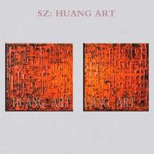 Абстрактная комбинация двойное заклинание красный топ художественная