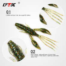 Купить с кэшбэком FTK Fishing Lure 8 pcs Soft Bait Shad Bass Fishing Lure Accessories 3D Eye Fake Shrimp Wobbler Swim Bait Silicone Saltwater HF