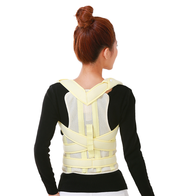 High quality Adjustable Therapy Back Support Braces Belt Band Posture Shoulder Corrector for Fashion Health 100% New brand free size o x form legs posture corrector belt braces