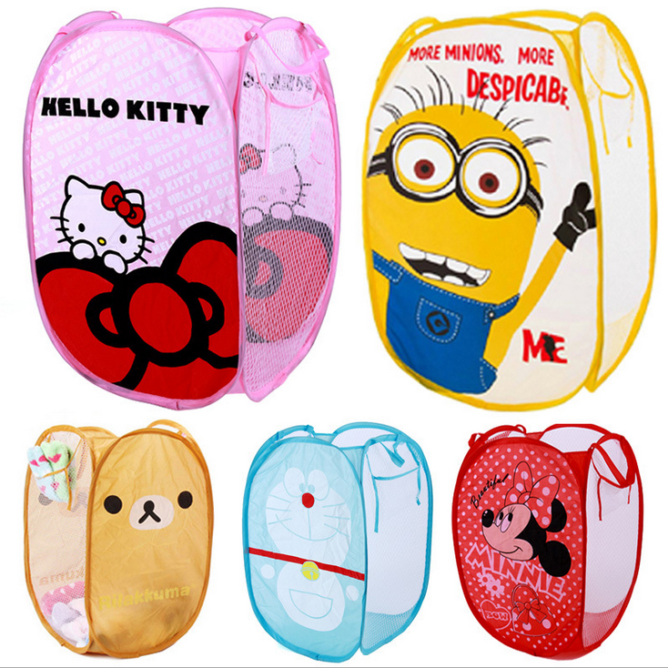Hot sale!!! Wholsale Cartoon Folding clothes storage basket laundry basket dirty clothes bucket Toy basket Oxford fabric bag|storage basket laundry|basket laundry|toy basket - AliExpress