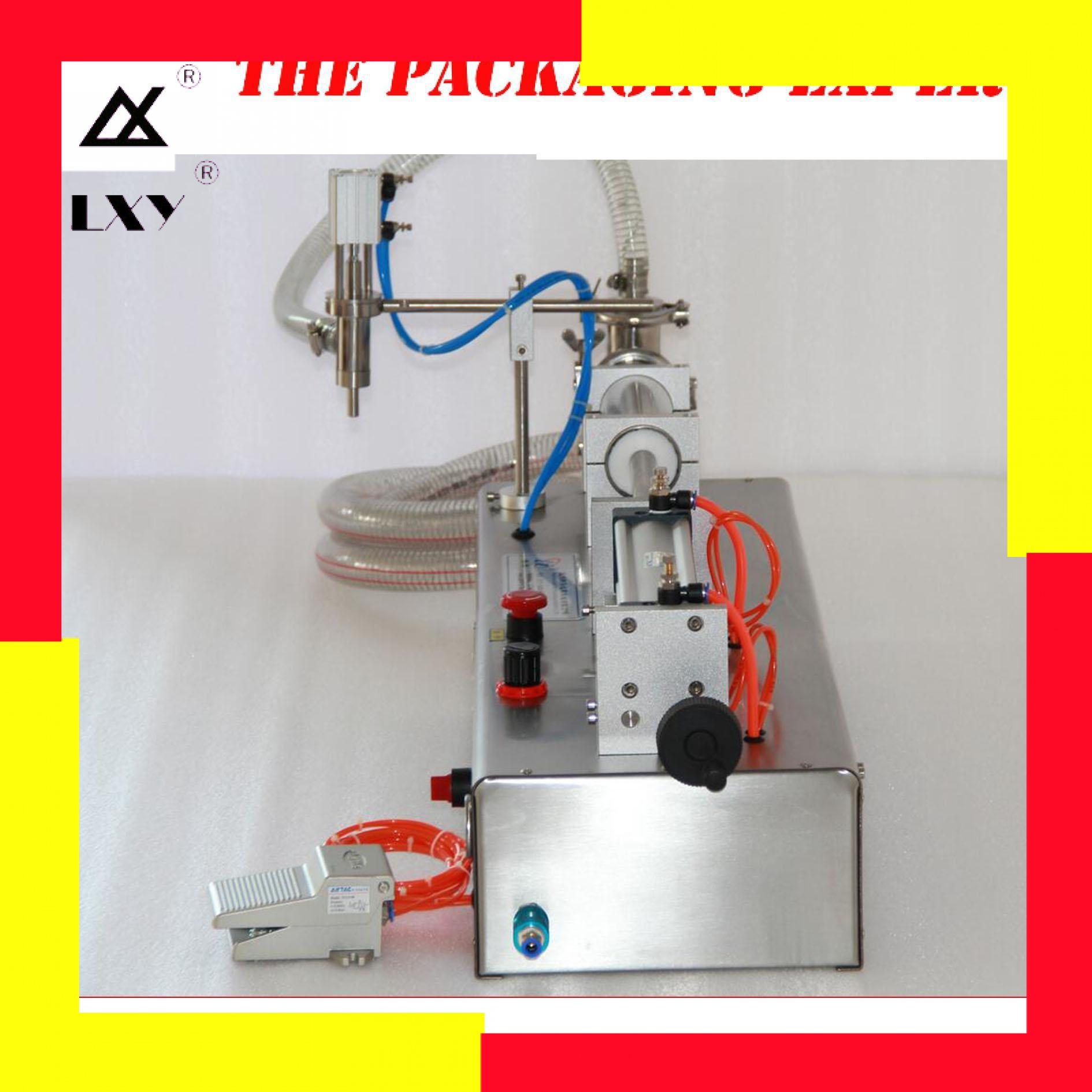 100-1000ml Fully Pneumatic Piston Liquid Filler Shampoo Juice Vinegar Coffee Oil Filling Machine Water Filler By Air Power