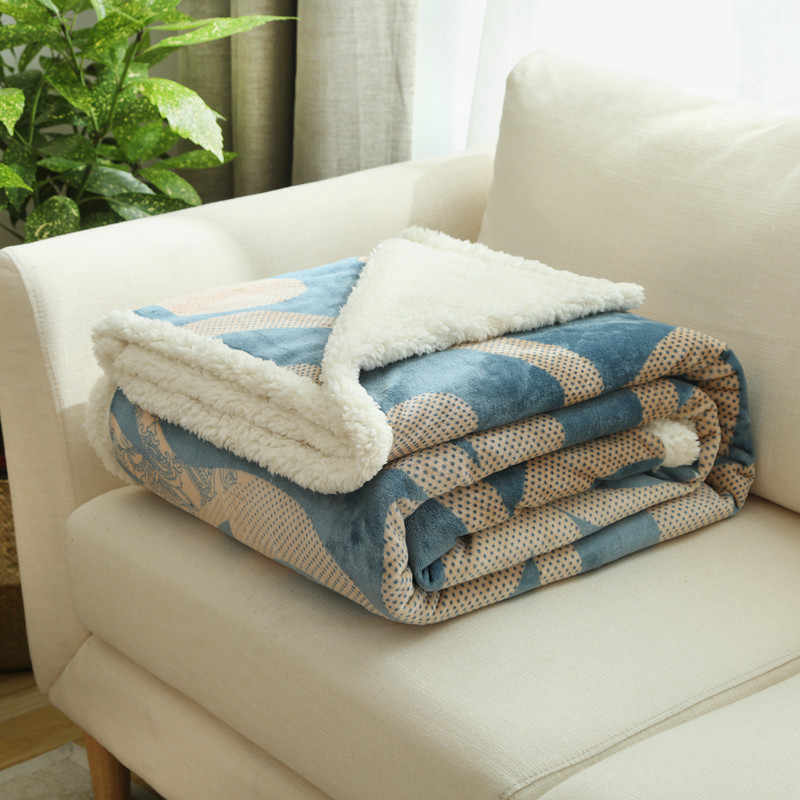 Super Soft Cashmere Like Sherpa Blanket Mink Throw Winter Sofa Cover Bedspread Warm Single Double Bed Plaid Blankets