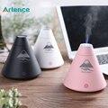 Креативный USB ультразвуковой увлажнитель воздуха вулканической формы, Аромадиффузор с разноцветной подсветкой, увлажнитель воздуха с функцией добавления аромамасел и сенсорным выключателем