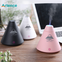 Creative Volcano Style USB Ultrasonic Humidifier With Colorful Led Light Essential Oil Aroma Diffuser Auto Off