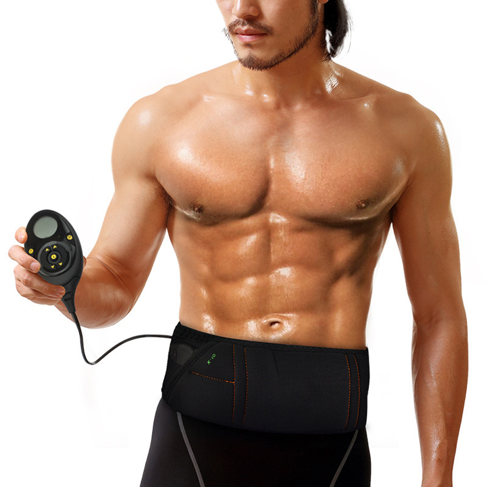 Стимулятор мышц живота EMS пояс умный фитнес-массаж Abs тренажер Электрический массажер для похудения домашний тренажерный зал