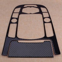 beler Carbon Fiber Strip Gear Shift Control Center Panel Cover and Ashtray CoverTrim Fit for Audi A4 A5