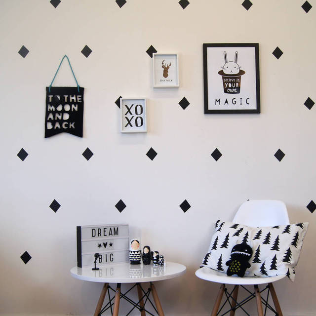 Good 68 Pcs/set Diamond Wall Stickers For Living Room Removable Home Decor Modern  Wall Decor