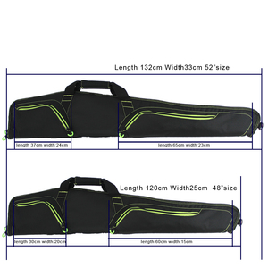 Image 5 - Rifle Black Soft Padded Gun Case Hunting Accessories pouch Tactical Scoped airsoft  Gun Bag Gun Storage holster