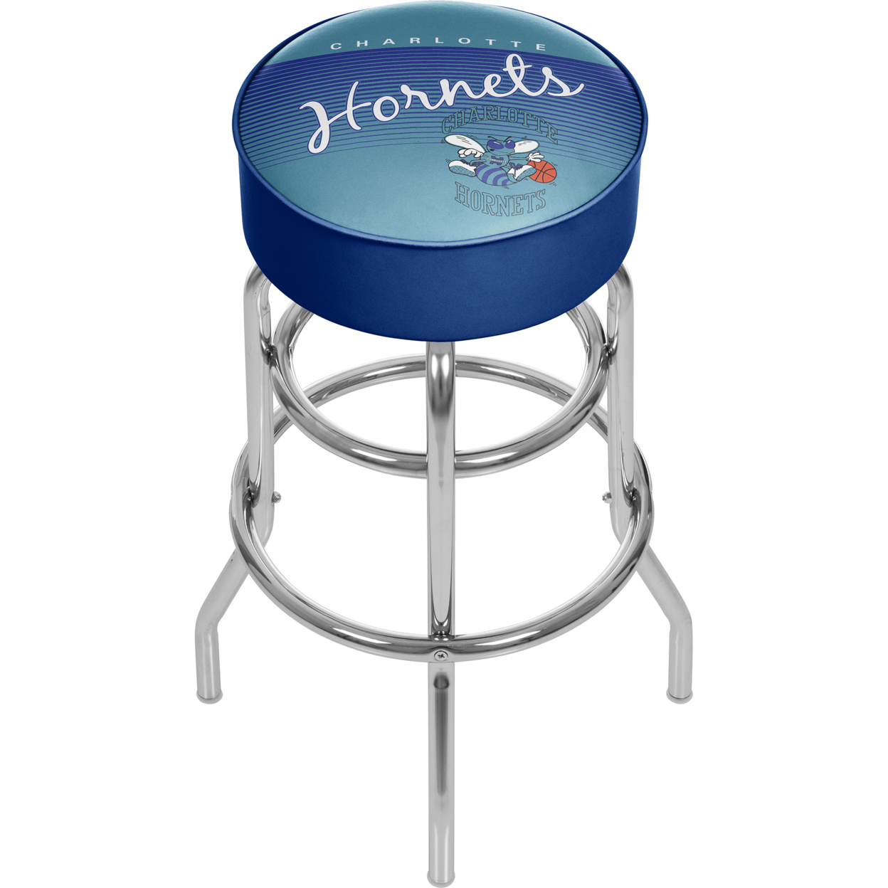 Charlotte Hornets NBA Hardwood Classics Padded Swivel Stool фанатская атрибутика nike curry nba