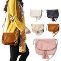 The New Fashion Leisure Double Zipper Tassel PU Single Shoulder Bag Aslant Bags