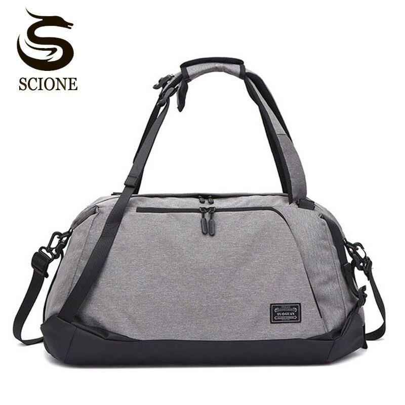 Многофункциональный Для мужчин мужские дорожные сумки Портативный сумки большой Ёмкость сумка рюкзак для обуви мокрой и сухой Duffel сумка