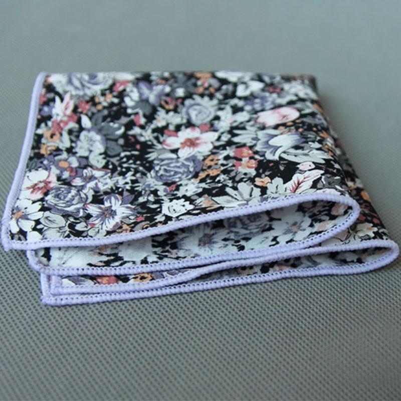 Mantieqingway 4PCS/LOT Chest Towel For Mens Suits Cotton Handkerchiefs Printing Pocket Square Hankies Business Square Hanky