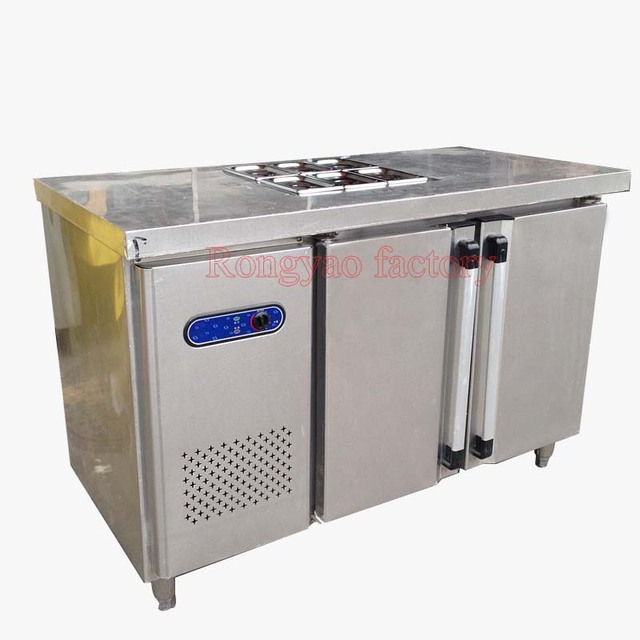 refrigerator table. tx0.4l2t 1.8 m salad workbench freezers stainless steel kitchen table refrigerator commercial refrigerated desk a