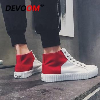 Zapatillas de deporte de Lona para Hombre, zapatos informales de tacón alto,...