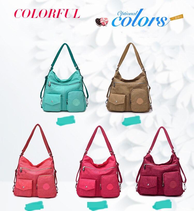 HTB1S3hfbtfvK1RjSszhq6AcGFXah Nylon Women Backpack Natural School Bags for Teenager Casual Female Preppy Style Shoulder Bags Mochila Travel Bookbag Knapsack