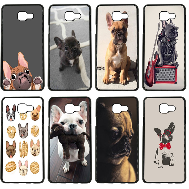 French Bulldog Animal Dogs Cell Phone Cases Hard Plastic Cover for Samsung Galaxy S8 S9 Plus S3 S4 S5 Mini S7 S6 Edge Plus Case