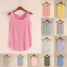 Women Vest Summer Tank-sleeveless Round Neck Loose Singlets Strapless Ruching Slim Top Camisole Women Clothing Tank19JUL16(China)