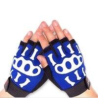Cycling Half Finger Gloves Bone Printed Cloth Quick Dry Anti Slip Anti Static Anti Sweat Handwear Bicycle Gloves