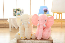 Small Size 40cm 5colors  Infant Soft Appease Elephant Playmate Calm Doll Baby Toys Lumbar Pillow