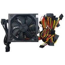 T. f. SKYWINDINTL 1600 Вт 12 В Питание добыча БП 1600 Вт Питание 6 GPU Графика карты RX480 RX570 RX470 Eth Zcash шахтер Мощность
