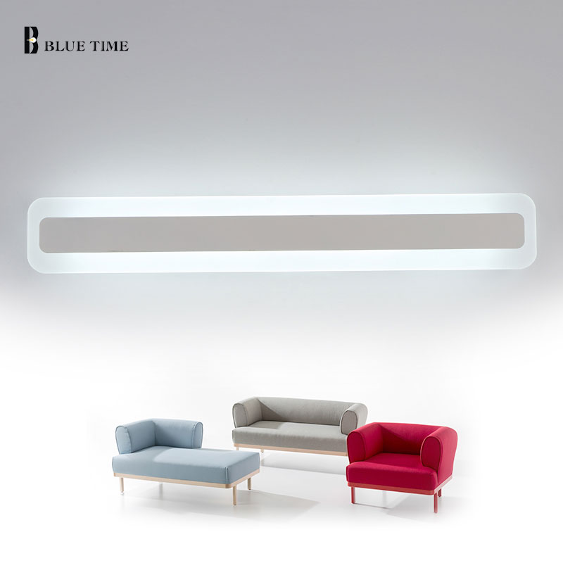 ФОТО 120/100/80CM Wall light for bathroom bedside makeup light led mirror light fixture wall mounted mirrors home lighting wall lamp
