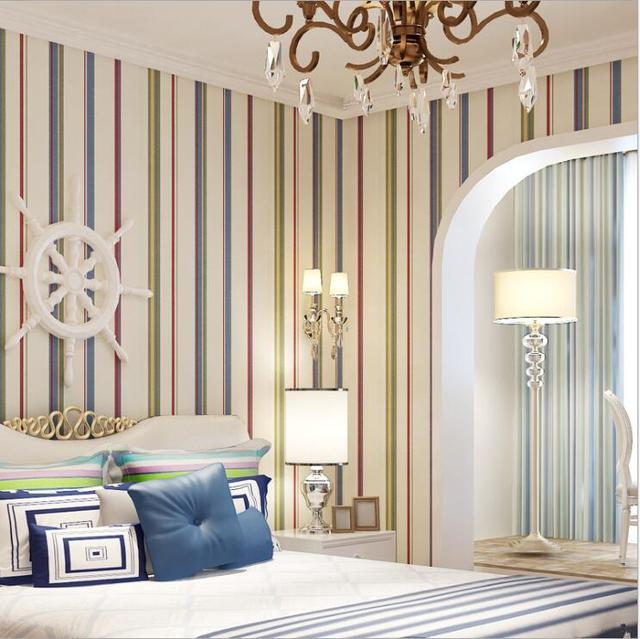 Tapeten Schlafzimmer Streifen