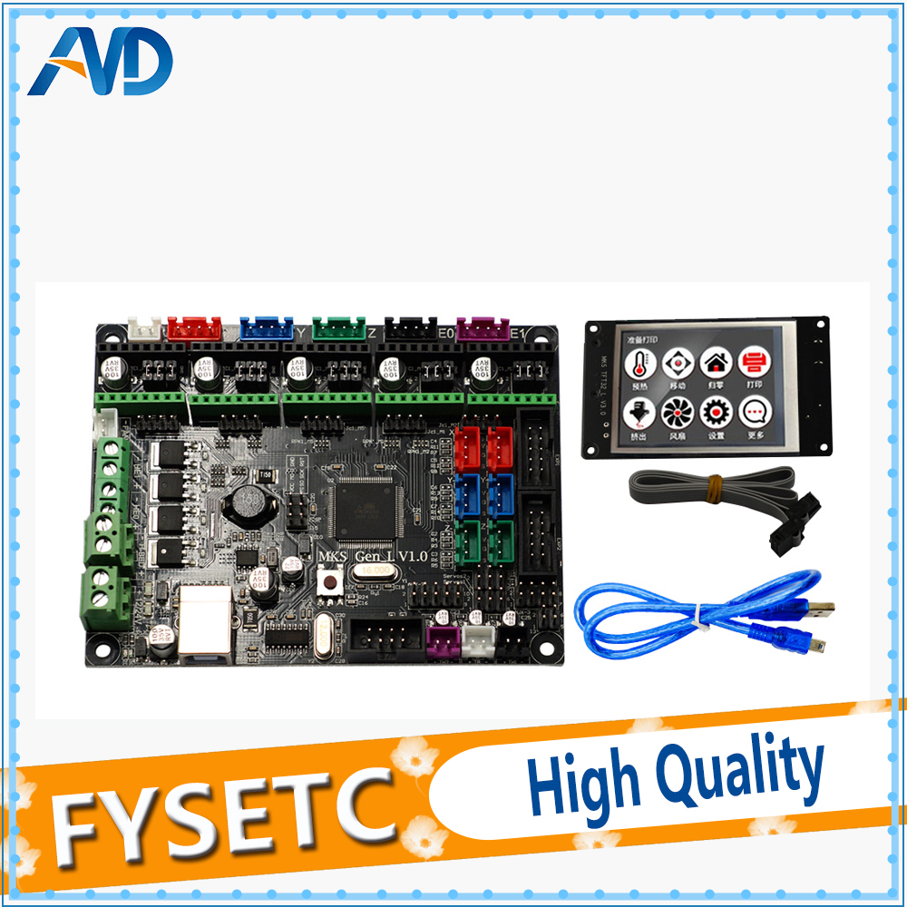TFT32 3.2'' Touch ScreenTFT32 3.2'' + Controller PCB Board MKS Gen-L V1.0 Integrated Mainboard Compatible Ramps1.4/Mega2560 R3 mks gen l v1 0 integrated mainboard mks gen l v1 0 compatible ramps1 4 mega2560 r3 mks tft32 3 2 touch screen