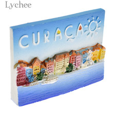 Lychee Life Caribbean Resin Fridge Magnet Creative 3D Refrigerator Magnets Home Decoration Tourist Souvenirs