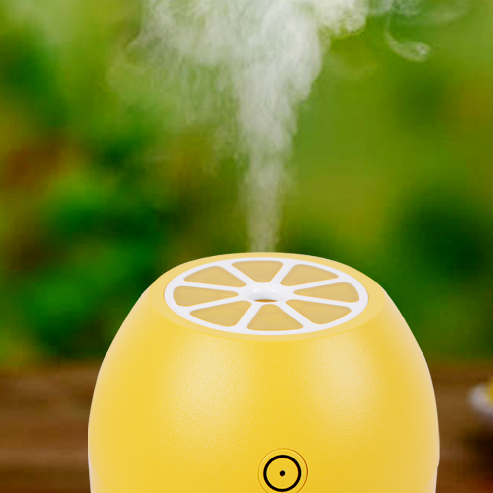 180ML Lemon Mini USB Portable Ultrasonic Humidifier DC 5V LED Light Luminous Air Purifier Mist Maker For Home Office Car proximity switch xs208blpal2 xs2 08blpal2