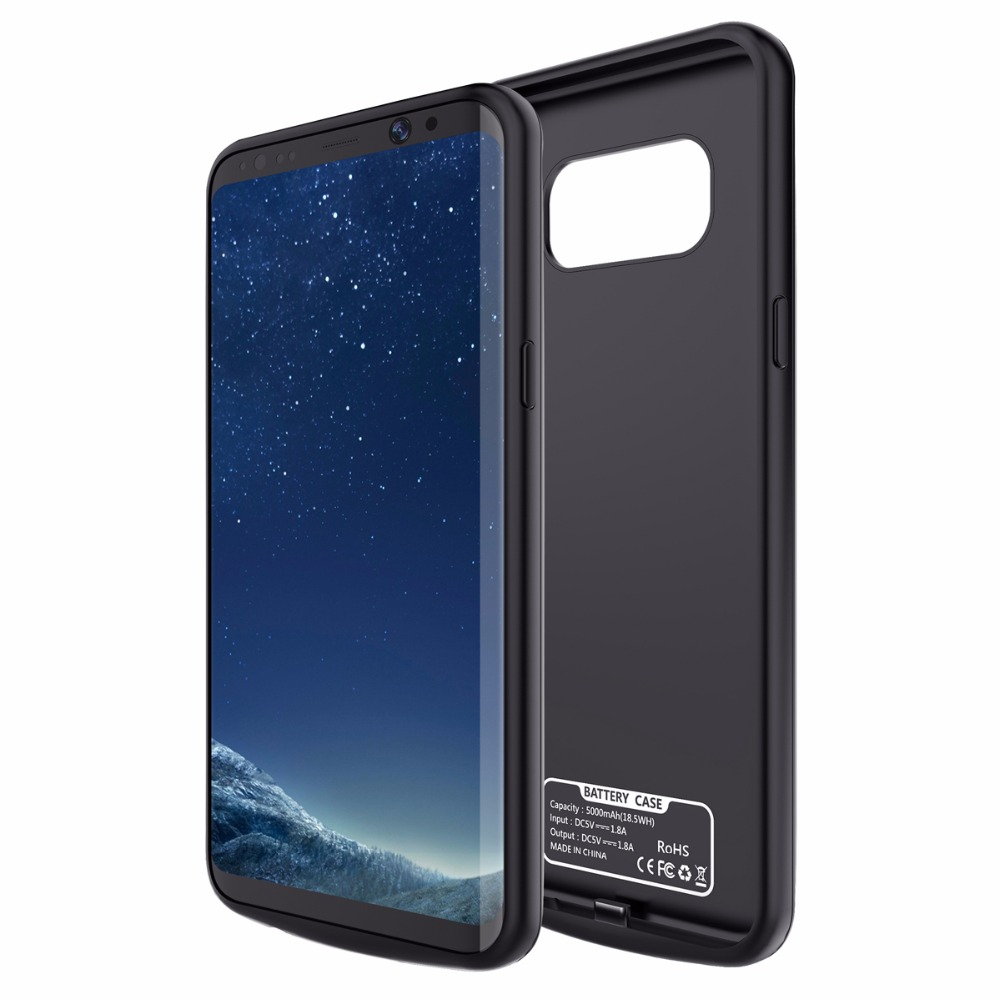 2017New For Samsung Galaxy S8 S8 Plus Battery Case Rechargeable Power Bank Backup External Battery Charger Case Cover