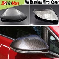2x Carbon Fiber Rearview mirror cover For VW golf mark 7 2013 2016 Car mirror case rearview mirror cover freeshipping